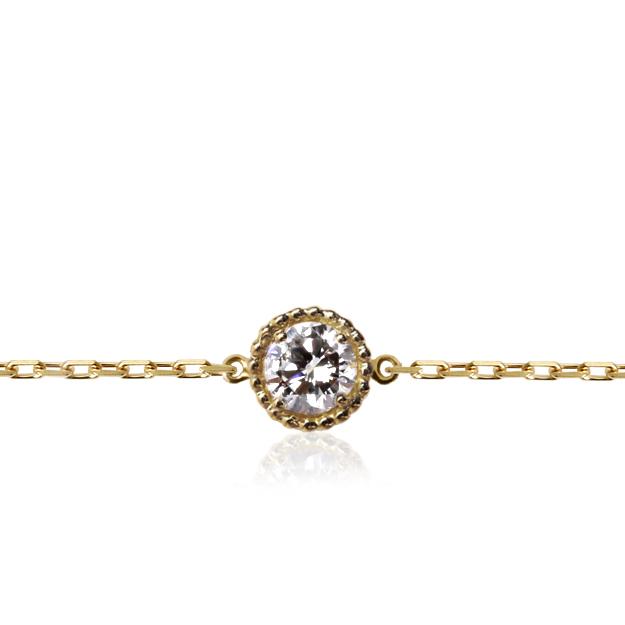一粒ダイヤ ブレスレット 可愛い デザイン