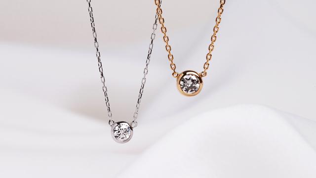 ダイヤモンド 一粒ネックレス